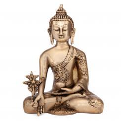 Buddha Statue, Messing, ca. 18 cm