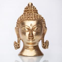 Buddha head statue, approx. 15 cm