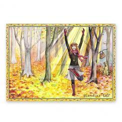 """Yoga Postcard """"Standing Tall"""""""
