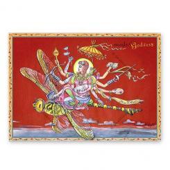 """Yoga Postcard """"Modern Goddess"""""""