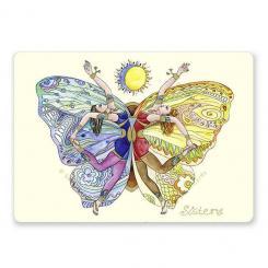 "Yoga carte postale ""Sisters"""