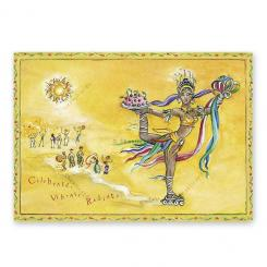 "Yoga carte postale ""Celebrate, Vibrate, Radiate"""