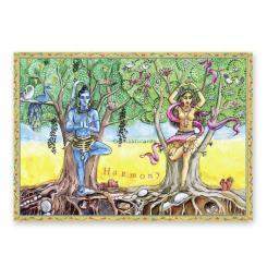 "Yoga Postcard ""Harmony"""