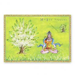 "Yoga Postcard ""Magic happens"""