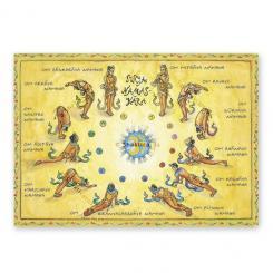 """Yoga Postcard """"Surya Namaskara"""""""