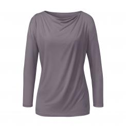 Curare Yoga Shirt Waterfall, 3/4 Sleeves, greyberry
