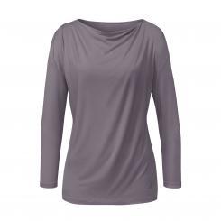 Curare Yoga Shirt Wasserfall, 3/4 Ärmel, greyberry
