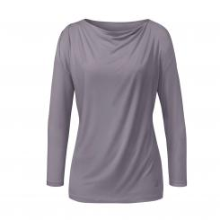 Curare Flow Yoga Shirt Wasserfall, 3/4 Ärmel pearl-grey