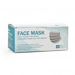 Disposable face mask, 3-ply, 50 pcs.