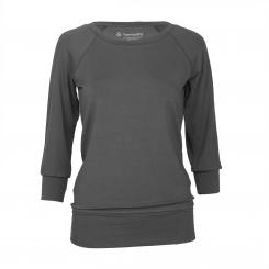 Yamadhi Casual ¾ Yoga Longsleeve, Viskose, Anthrazit (Dark Shadow) L