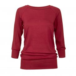 Yamadhi Casual 3/4 long sleeve, viscose, bordeaux L