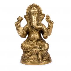 Ganesha Statue aus Messing, ca. 10,5 cm