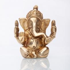 Statuette de Ganesha, laiton, 12 cm