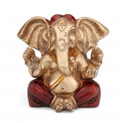 Ganesha Statue, Zweifarbig, ca. 12 cm