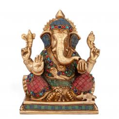 Ganesha statue multi-colored, approx. 20 cm