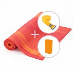 Kit de yoga GANGES avec tapis de yoga, brique et sangle