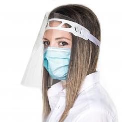 Gesichtsschutz-Visier Spritzschutz PET mit Gummizug