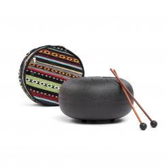 Tambour à roseaux d'acier Tambour Hapi noir mat, Ø 30 cm