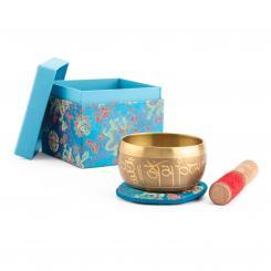 """Indische Klangschale """"Singing Bowl"""" mit BUDDHA Design von bodhi in Geschenkbox, ca. 480 g, Ø 11 cm"""