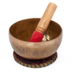 Tibetan Singing Bowl with BUDDHA inlay by bodhi, approx. 450 g, Ø 11 cm