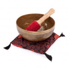 """Tibetische Klangschale """"Singing Bowl"""" mit TARA Gravur von bodhi, ca. 1000 g, Ø 19 cm"""