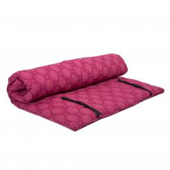 Shiatsu mat, 4 Layers, with removable cover, Maharaja Collection Lotus (berry) | 140 cm