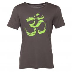 Bodhi Mens T-Shirt - OM (green), anthracite