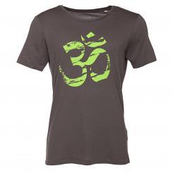 Bodhi Mens T-Shirt - OM (green), anthracite