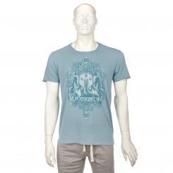 Bodhi Mens T-Shirt - GANESHA, vintage blue