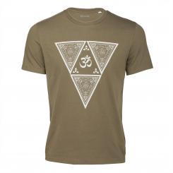 Bodhi Yoga Shirt - ETHNO TRIANGLE, khaki, Unisex