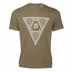 Bodhi Yoga Shirt - ETHNO TRIANGLE, khaki, Unisex L
