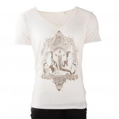 Bodhi Yoga Shirt Männer - GANESHA, vintage white