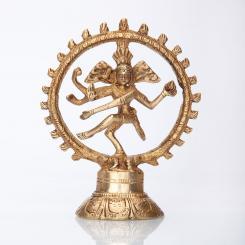 Nataraj Brass Statue, ca. 14 cm