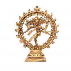 Statuette de Nataraj, laiton, 14 cm