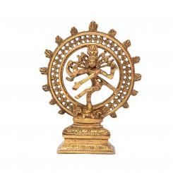 Nataraj Statue, Messing, ca. 20 cm,  goldgelb
