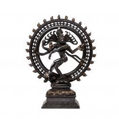 Nataraj Statue, Messing ca. 35 cm, schwarz