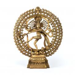 Nataraj Statue, Messing, 60 cm, dunkelgold