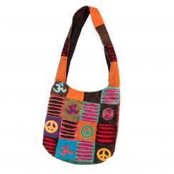 Om Shanti Bag, Patchwork Hippie bag, multicolor