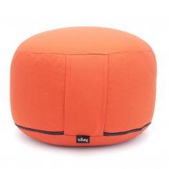 Coussin de méditation RONDO CLASSIC standard amovible | kapok | orange (coton sergé)