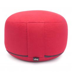 Meditation cushion RONDO CLASSIC large removable | spelt hull | red (cotton twill)