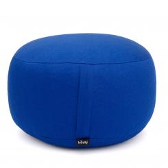 Meditationskissen RONDO CLASSIC standard nicht abnehmbar | Dinkelhülsen | blau (Köper)