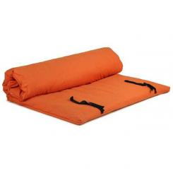Shiatsu (EXTRA-LARGE) mat with non-removable cover 200x200 cm | terracotta | 4 layers