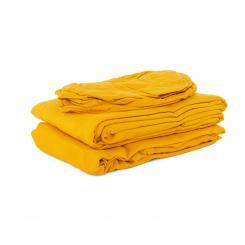 Drap-housse en flanelle pour tables de massage standard safran