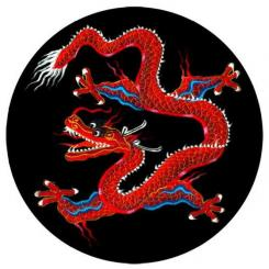 Meditation cushion ZAFU with Dragon