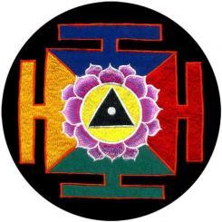 Meditationskissen ZAFU mit Mandala