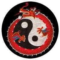 Meditationskissen ZAFU mit Yin Yang