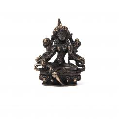 Tara brass statue, black, approx. 10 cm