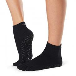 ToeSox Full-Toe Ankle Black