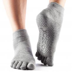 ToeSox Full-Toe Ankle Grey Gr. S