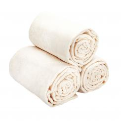 wuwei Frottee Handtuch ecru | 3x Badehandtuch 75 x 200 cm